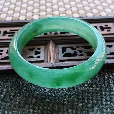 糯冰种蓝绿正装手镯55.7mm