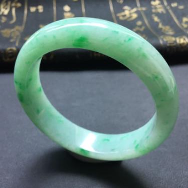 糯冰種飄翠手鐲(56.2mm)