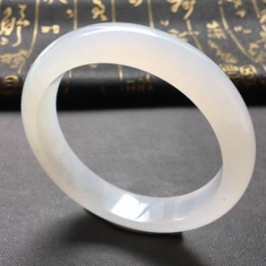 冰种略飘花手镯(57.5mm)