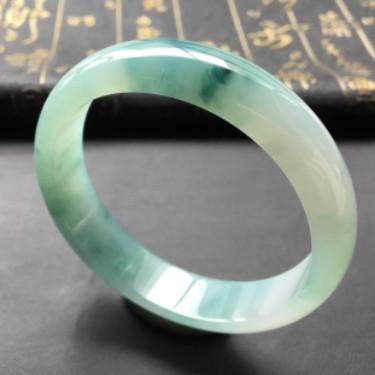糯冰種飄花手鐲(58.5mm)