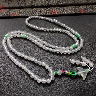 冰种白色圆珠项链/手链