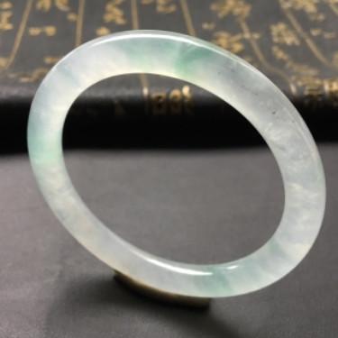 冰种飘花圆条手镯(51mm)