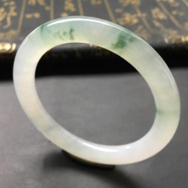 冰种飘花圆条手镯(51.8mm)