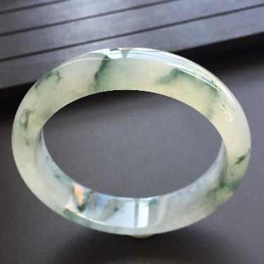 冰种飘花手镯(54.3mm)