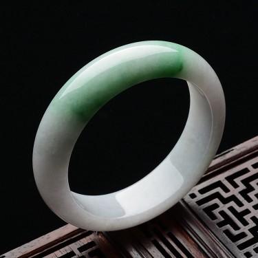 糯冰种飘翠手镯(55.4mm)