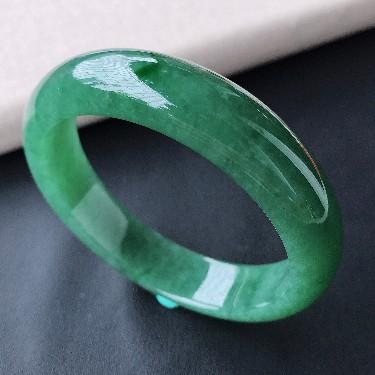 细糯种深绿手镯(52.8mm)