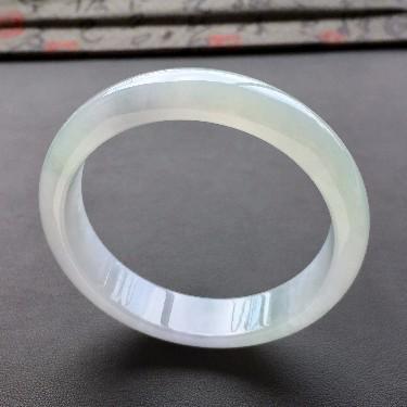 (超值推荐)糯冰种晴水淡紫底手镯(57.6mm)