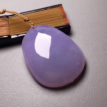 糯冰種紫羅蘭福貝掛件翡翠