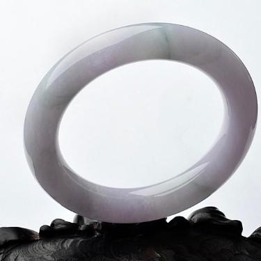 糯冰種春帶彩圓條手鐲(57.9mm)