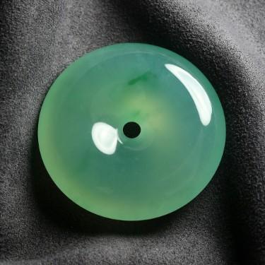 玻璃種晴水平安扣