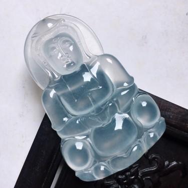 緬甸翡翠冰種保平安觀音吊墜