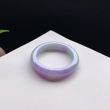 细糯种紫罗兰正圈手镯53mm