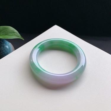 细糯种春彩圆条手镯56mm