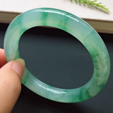 圓條53.6mm,冰種飄花手鐲