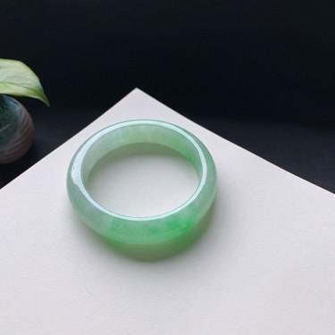 冰糯種翠綠正圈手鐲55mm