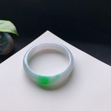 細糯種陽綠正圈手鐲56mm