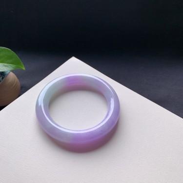 细糯种紫罗兰圆条手镯58mm