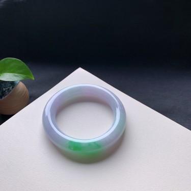 细糯种春彩圆条手镯57mm