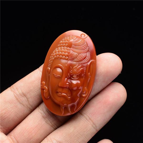 【宝玉石级】南红柿子红一念之间挂件