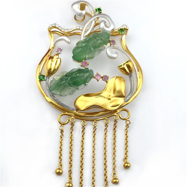 张木华的珠宝作品成品展示