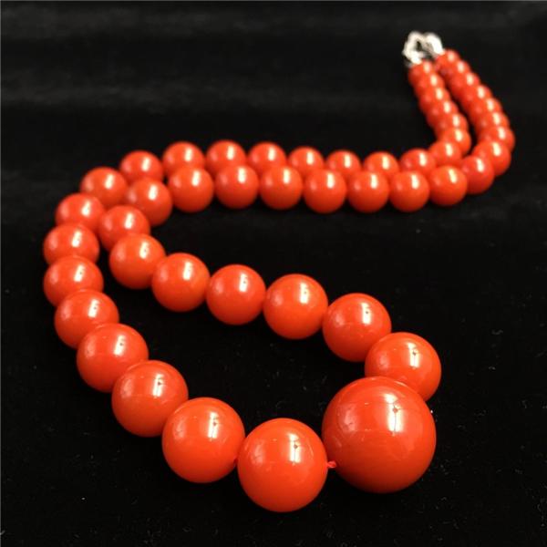 收藏级南红樱桃红塔链