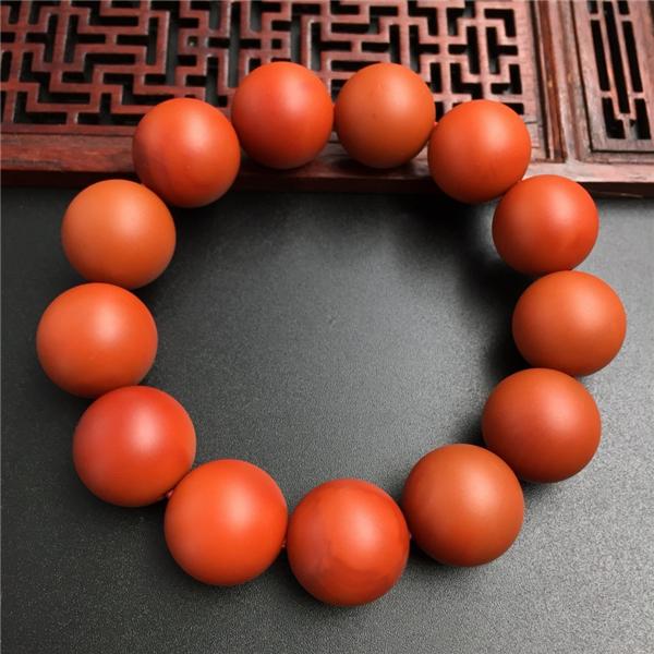 南红柿子红17mm手串