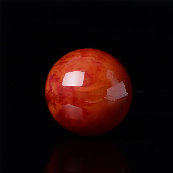 【宝玉石级】南红火焰红圆珠