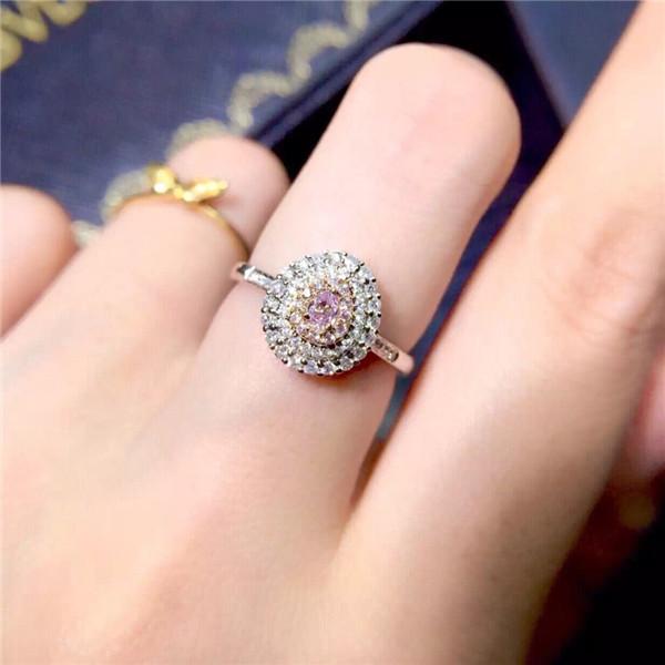 18K粉钻戒指