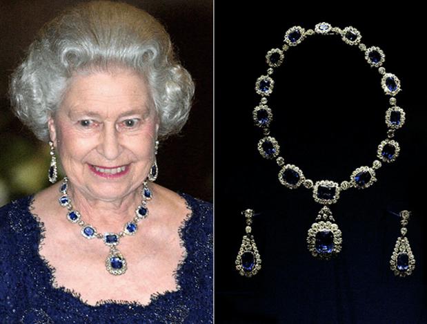 伊丽莎白二世女王的首饰套装