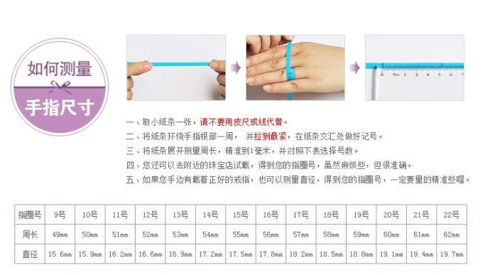 测量手指尺寸图