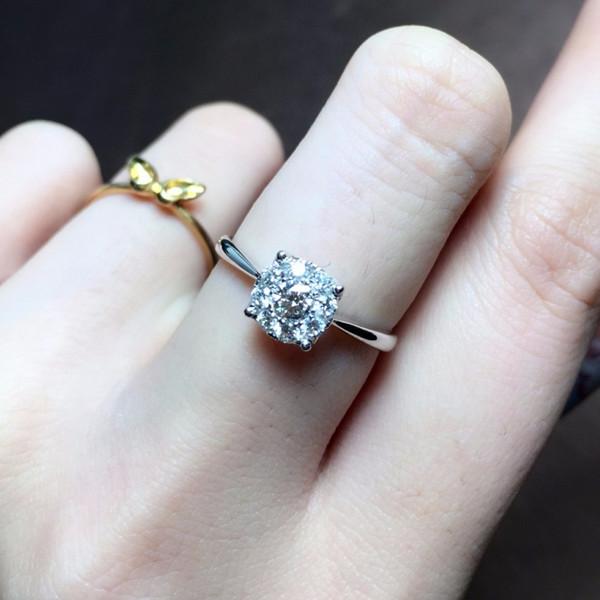 18K钻石戒指