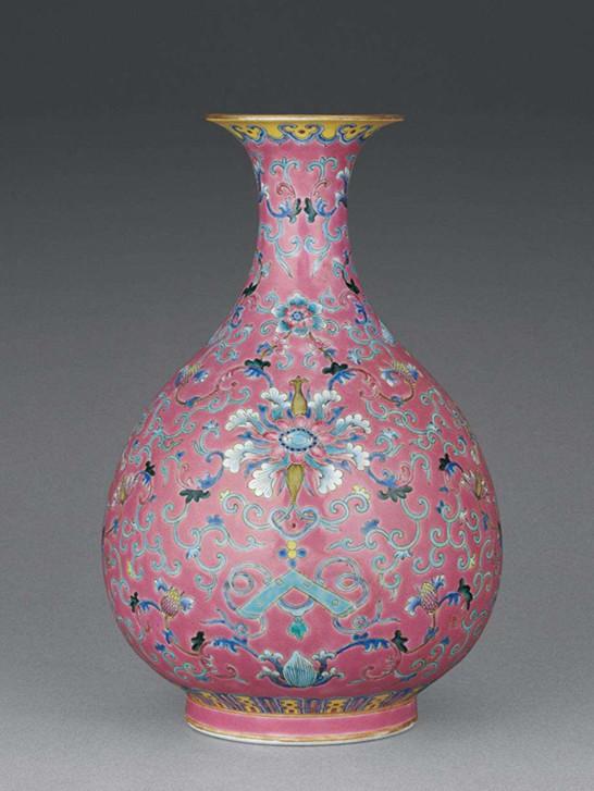 康熙雍正粉彩瓷器花瓶