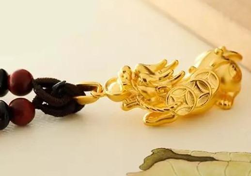 貔貅黄金吊坠