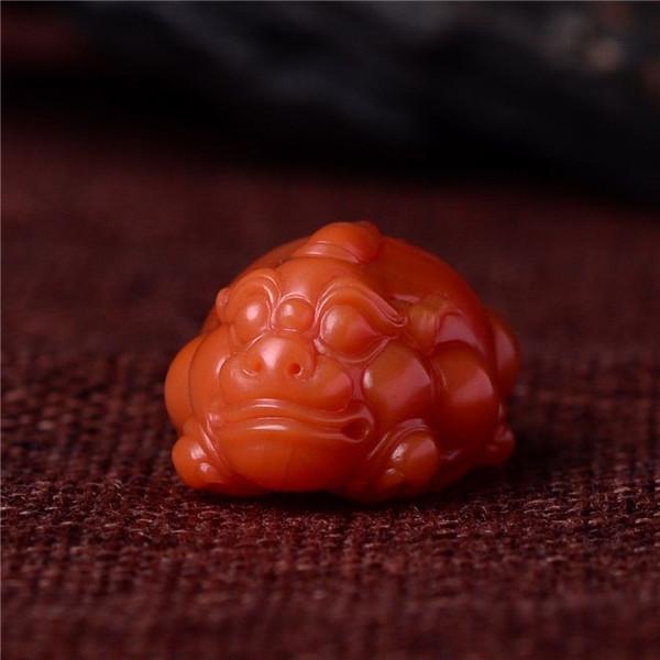 南红柿子红招财貔貅挂件