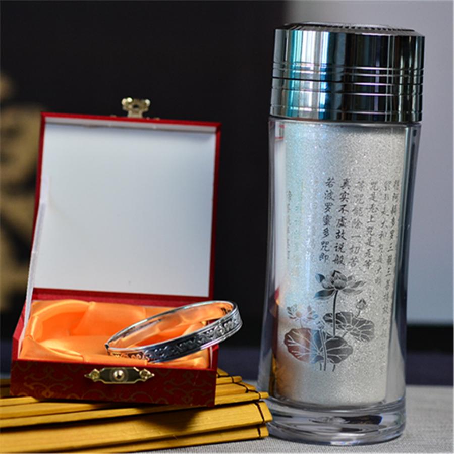 【超值】保温杯+银手镯,孝心礼