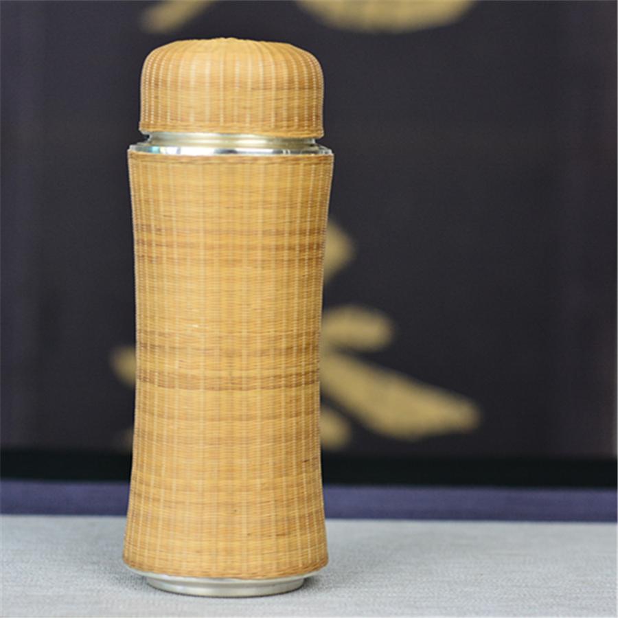 【超值】缅甸竹编工艺纯银杯