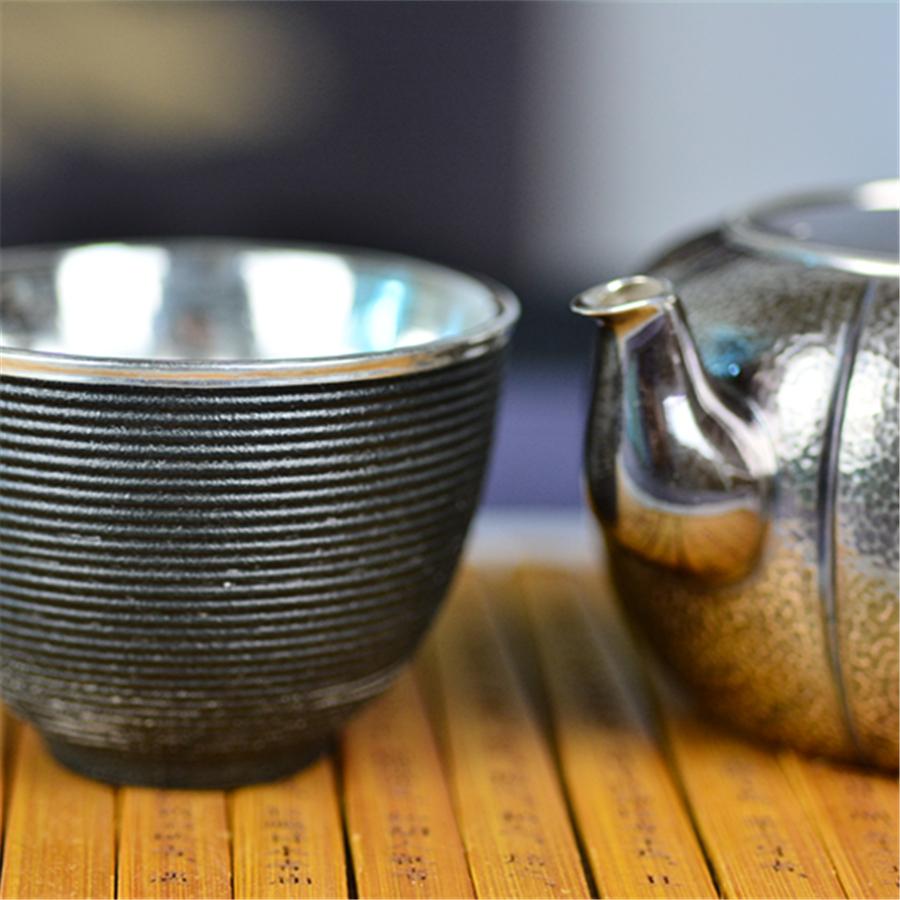 【超值】黑釉旋文手工包银杯